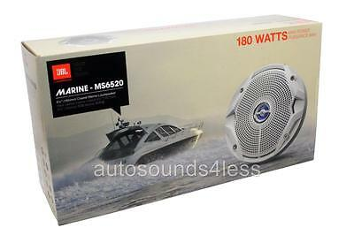 "New JBL MS6520 90 Watt MS Series 6.5"" 2-Way Coaxial Marine Audio Speakers 6-1/2"""
