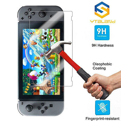 Tempered tough Screen Protector 9H Film Guard Sheet for Nintendo Switch