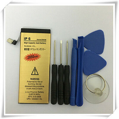 Hight Quality 2850mAh Li-ion Replacement Battery For Iphone 6 4.7 + repair tools