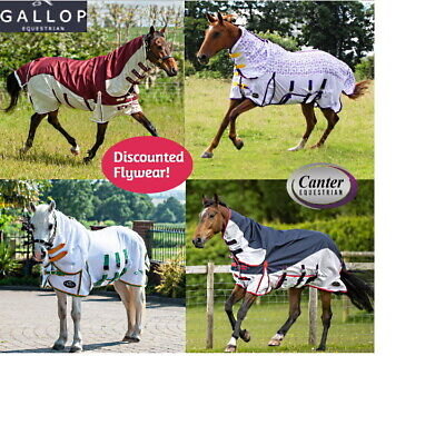 Combo Fly Turnout Rug with Belly Flap, Face Mask. Rainbow, star or Blue/White.