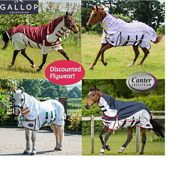 Horse/Pony Combo Fly Turnout Rug with Belly Flap, Neck cover. Star or Plain