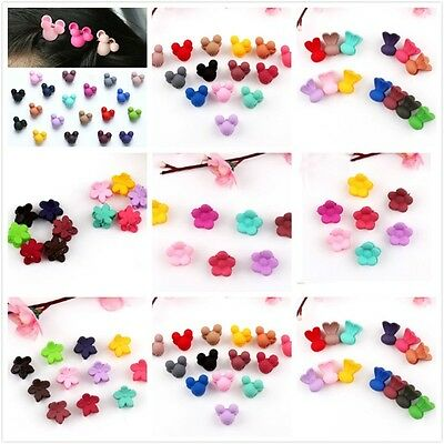 20Pcs/Lot Cartoon Rabbit Mickey Flowers Candy Mini Hair Clips For Baby Kids Girl