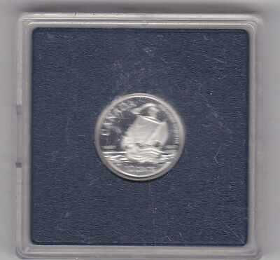 Cased1997 Canada Ship Proof Silver Ten Cents In Mint Condition