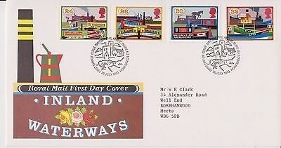 Gb Royal Mail Fdc First Day Cover 1993 Inland Waterways Stamp Set Bureau Pmk