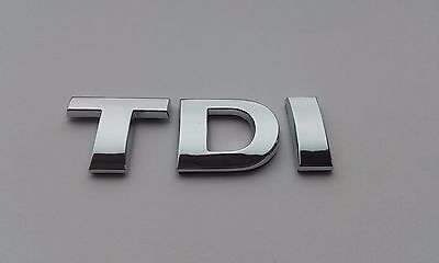 New Chrome 3D Self-adhesive Car Letters badge emblem sticker Spelling TDI