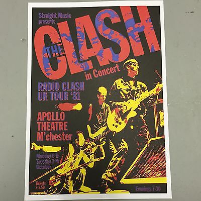THE CLASH - U.K. CONCERT POSTER MANCHESTER 6th & 7th OCTOBER 1981 (A3 SIZE)