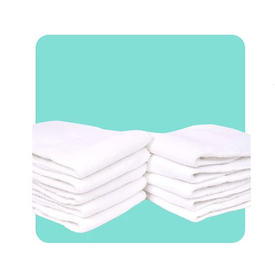 10 pcs brand new baby newborn cotton cloth diaper nappy inserts liners 3 layers