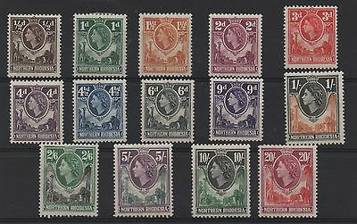 Northern Rhodesia 1953 definitives SG61-74 lightly mounted mint set stamps