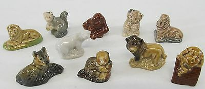 Collection Of 10 Assorted Wade Whimsy Animals Featuring Both Pets & Wildlife