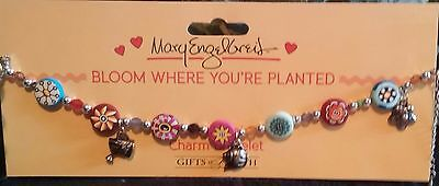 Mary Engelbreit Bloom Where You're Planted Charm Bracelet