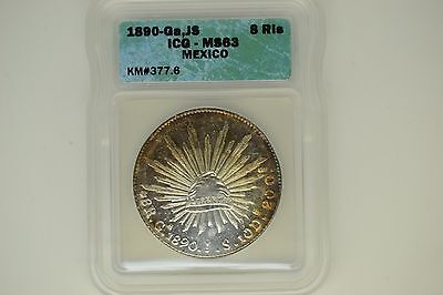 Mexico: 1890-Ga, JS 8 Reales- ICG MS-63.  A lovely PQ coin.
