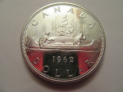 1962 Canadian Silver Dollar, 80% silver,  nice details