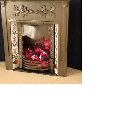 Dolls House Light Up Victorian Bedroom Fireplace (grey) 12th scale