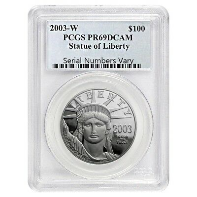 2003 W 1 oz Platinum American Eagle Proof $100 Coin PCGS PF 69 DCAM