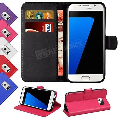 Case Cover For Samsung Galaxy S8 S6 Edge Mgnetic Flip Leather Wallet Card Holder