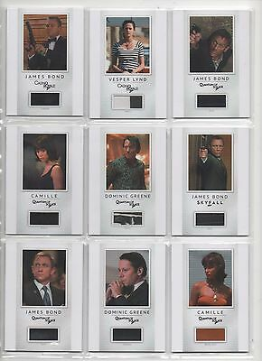 James Bond- 2016 Classics Wardrobe Material Cards- Auction Is For Single Card/S