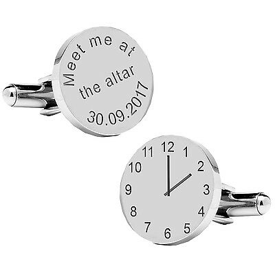Personalised MEET ME AT THE ALTER Cufflinks, Wedding Party Gift, Groom Gift