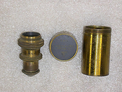 VINTAGE BAUSCH & LOMB OPTIC Co 4 mm MICROSCOPE OBJECTIVE & CANISTER