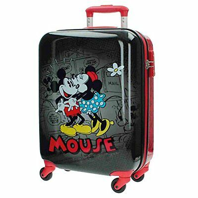 Trolley Valigia Minnie Mouse 37X55X20Cm Disney 4 R Originale Bagaglio Mano New