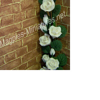 Dolls House 12th scale White Climbing Roses