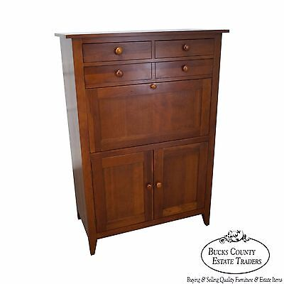 Ethan Allen New Impressions Solid Cherry Tall Chest w/ Secretary Desk
