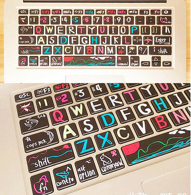 Macbook Air Pro Vinyl Sticker Decal keyboard Button Sticker Key Sticker 13''