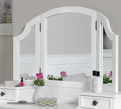 Gainsborough 3-way mirror, Large White Dressing Table mirror, ADJUSTABLE angle