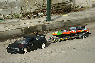 RC  True to scale BOAT TRAILER W/ V axel Suspension for V Hull  gas nitro boat
