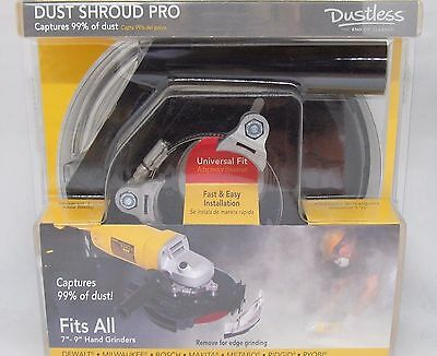 Dustless Technologies 7 in. Polycarbonate Pro Dust Shroud in Black