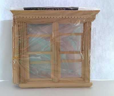 Dolls House Large Sash Window with Dentil Mouding 1:12 Scale