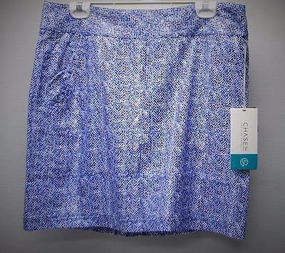 New Womens Chase 54 Arlington Size 12 polyester golf skorts Cobalt