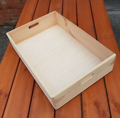Wooden Serving Very Large Tray 60 cm x 40 cm x 13.5 cm Decoupage