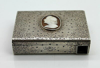 Rare Vintage European Style Sterling Silver Powder Box AS-IS