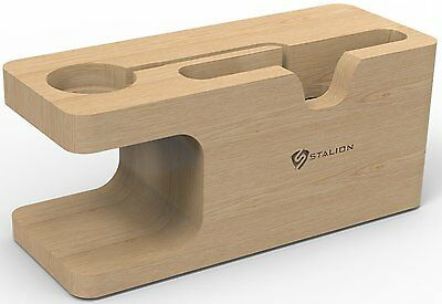 Bamboo Charging Dock Desktop Station Charger Holder Stand For Apple Watch iPhone