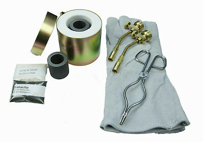 Mini Propane Gas Furnace - Kiln, Flux, Tips, Gloves, Crucibles, Tongs - Kit