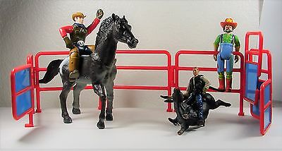 Breyer Reeves C Bull Rider Schylling Cowboy Horse Rodeo Clown Corral Playset Lot