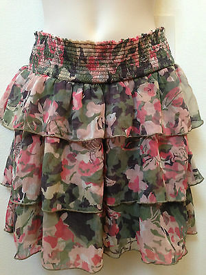Motherhood Maternity Dressy Summer Lined Floral Skirt Size Small