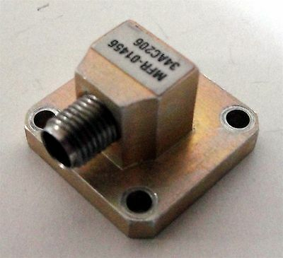 MDL 34AC206 WR34 to SMA Female Waveguide-Coax Adapter 22 - 33 GHz