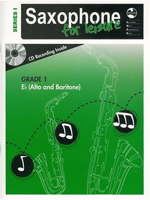 AMEB Saxophone For Leisure Grade 1 - E Flat - Series 1 Music Book with CD