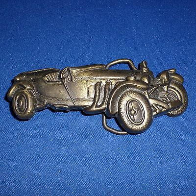 New Old Stock Vintage Brass Antique Classic Roadster Convertible Car Belt Buckle