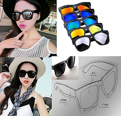 Women Men Vintage Retro Glasses Unisex Fashion Mirror Lens Sunglasses