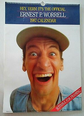 Hey Vern! Its The Official Ernest P. Worrell 1987 Wall Calendar Rare Collectible
