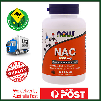 HIGH POTENCY NAC (N-Acetyl Cysteine) 1000mg 120 Tablets by NOW Foods Amino Acid
