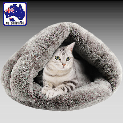 Pet Dog Cat House Nest Bed Cave Sleeping Mat Soft Warm Kitten Puppy PDBE50593