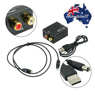 3.5MM Digital Optical Coax Coaxial Toslink to Analog Audio Converter Adapter QW