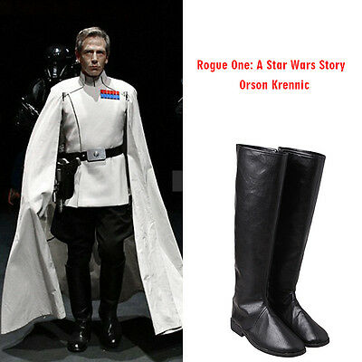 Rogue One: A Star Wars Story Orson Krennic Cosplay Boots Shoes Props Accessories
