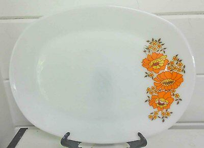 Vintage Pyrex, Milk Glass  JAJ Sunflower platters - excellent condition