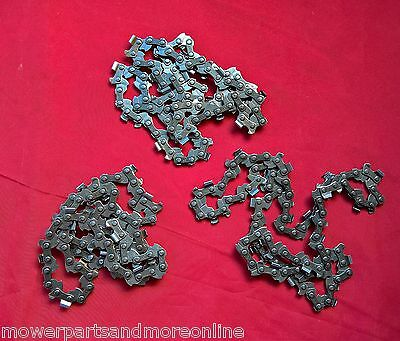 3 x BY-LINK 14 INCH 50 LINK 3/8lp  x 043 GAUGE CHAINSAW CHAIN -  STIHL & MORE