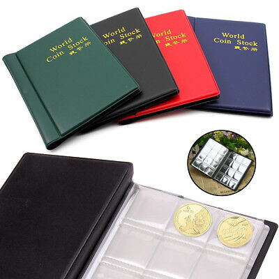 120 Coin Collection Supply Folder Collecting Money Pound Penny Pocket Album Book