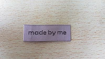 25 MADE BY ME motif coffee fabric labels clothing knitting sewing handmade UK